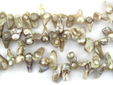 Metallic Irregular Chip Pearl Beads 15mm (PRL147)