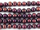 Metallic Purple Potato Pearl Beads 7mm (PRL150)