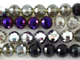 Multi-Color Crystal Glass Beads 11-12mm (CRY136)