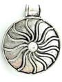 Silver Pinwheel Metal Pendant 60mm (AP1404)