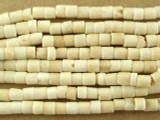 Short Tube Natural Bone Beads 4mm (B9048)