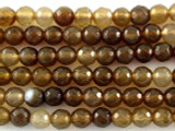 Brown Agate Faceted Round Gemstone Beads 6mm (GS3177)