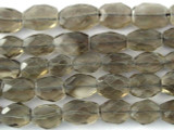 Smokey Quartz Faceted Oval Gemstone Beads 8-13mm (GS3202)