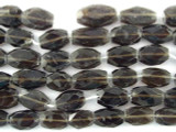 Smoky Quartz Oval Tabular Gemstone Beads 10mm (GS3206)