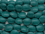 Teal Tabular Recycled Glass Beads - Indonesia 13mm (RG559)