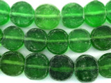 Green Recycled Glass Beads - Indonesia 19mm (RG566)
