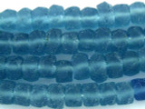Light Blue Disc Recycled Glass Beads - Indonesia 10mm (RG568)