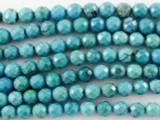 Turquoise Faceted Round Beads 6mm (TUR1084)