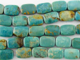 Turquoise Rectangular Tabular Beads 12mm (TUR1098)