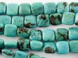 Turquoise Square Beads 8mm (TUR1099)