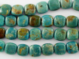 Turquoise Square Beads 10mm (TUR1100)