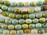 Turquoise Rice Beads 8mm (TUR1102)