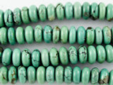 Turquoise Rondelle Beads 10mm (TUR1105)