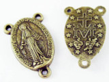 Brass Miraculous Medal - Pewter Pendant 22mm (PW1150)