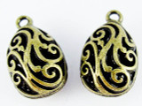Brass Teardrop - Pewter Pendant 20mm (PW1155)