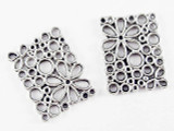 Pewter Flower Connector 22mm (PB487)
