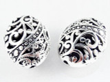 Pewter Bead - Oval 21mm (PB491)