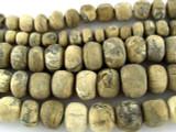 Stegodon Mammoth Fossilized Tusk Beads 7-15mm (RF600)