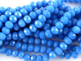 Medium Blue Crystal Glass Beads 8mm (CRY137)