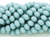 Frosty Blue Crystal Glass Beads 8mm (CRY138)