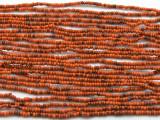 "Small Orange Glass Beads - 44"" strand (JV9046)"