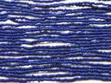 "Small Blue Glass Beads - 44"" strand (JV9051)"
