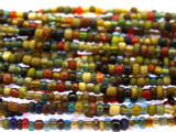 "Small Multi-Color Glass Beads - 44"" strand (JV9053)"