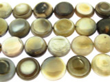 Botswana Agate Round Tabular Gemstone Beads 12-16mm (GS3221)