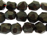 Garnet Faceted Nugget Gemstone Beads 13-17mm (GS3233)
