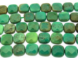 Green Moss Opal Square Tabular Gemstone Beads 10mm (GS3235)
