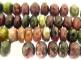 Tourmaline Rondelle Gemstone Beads 11-12mm (GS3241)
