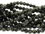 Snowflake Obsidian Round Gemstone Beads 4mm (GS3242)
