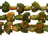 Unakite Bears Gemstone Beads 19mm (GS3247)