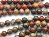 Red Creek Jasper Round Gemstone Beads 8mm (GS3302)