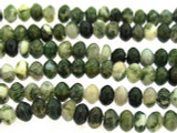 Moss Agate Saucer Gemstone Beads 6mm (GS3255)