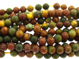 Red Creek Jasper Round Gemstone Beads 4mm (GS3263)