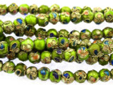 Cloisonne Beads - Lime Green Round 5mm (CS258)