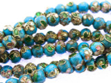 Cloisonne Beads - Light Blue Round 5mm (CS259)