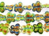 Cloisonne Beads - Multi-Color Butterfly 15mm (CS261)