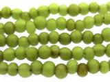 Antiqued Lime Green Irregular Round Glass Beads 3-5mm (JV967)