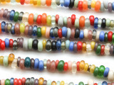 Multi-Color Rondelle Glass Beads 4-6mm (JV921)