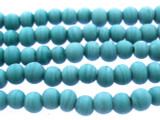Aqua Irregular Round Glass Beads 3-5mm (JV971)