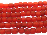 Red Irregular Glass Beads 4-6mm (JV974)