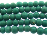 Teal Irregular Round Glass Beads 5-7mm (JV976)