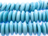 Light Blue Disc Glass Beads 16mm (JV933)