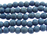 Denim Blue Irregular Round Glass Beads 7-9mm (JV986)