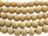 Beige Irregular Round Glass Beads 6-8mm (JV987)