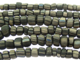 Charcoal Gray w/Stripes Graduated Glass Beads 4-7mm (JV992)