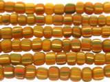 Pumpkin Orange w/Stripes Glass Beads 3-6mm (JV998)