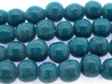 Teal Irregular Round Glass Beads 9-10mm (JV1020)